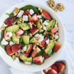 Strawberry Salad served in a bowl