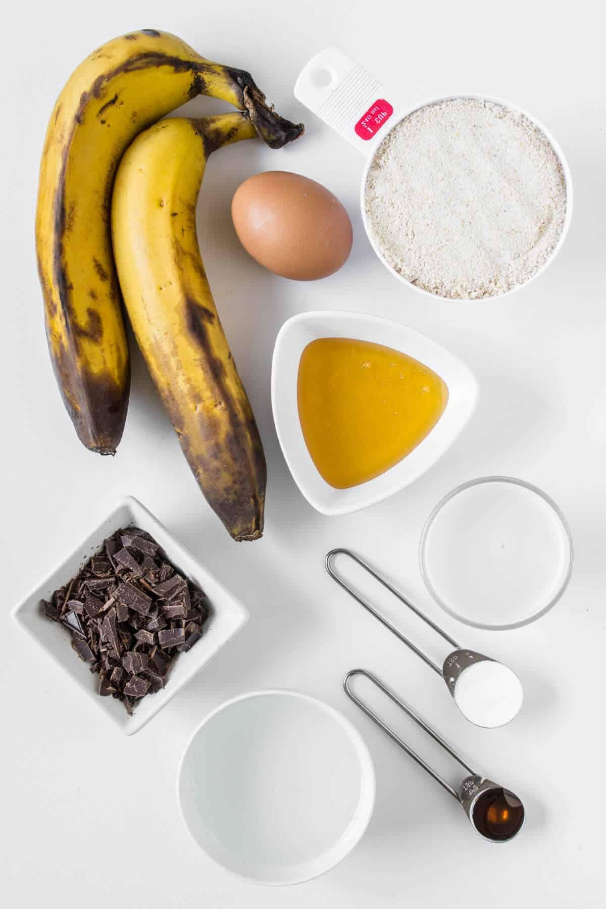 Banana Chocolate Slice ingredients