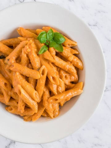 Penne All Vodka serve in a bowl