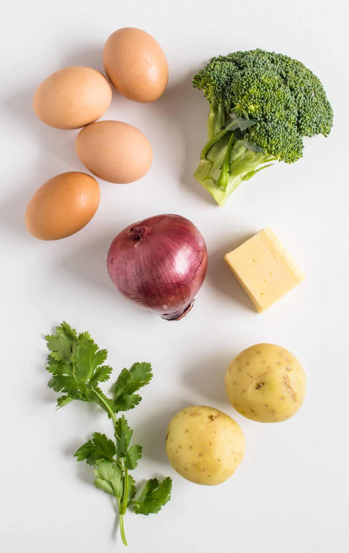 Healthy Eggs Muffins ingredients