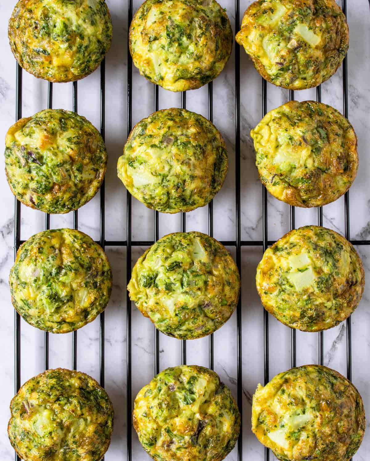 Healthy Eggs Muffins resting on a cooling rack