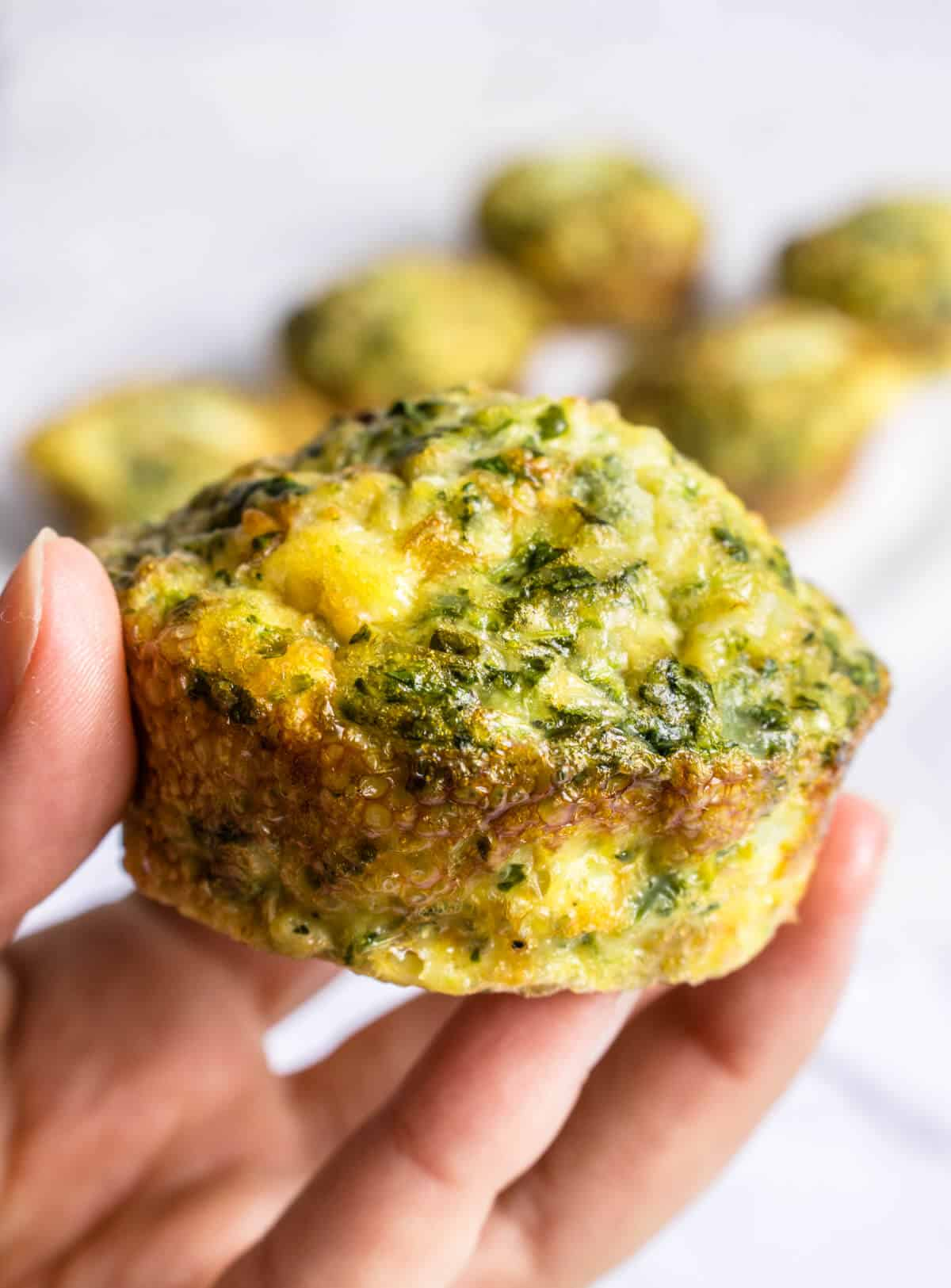 Healthy Egg Muffin close up shot