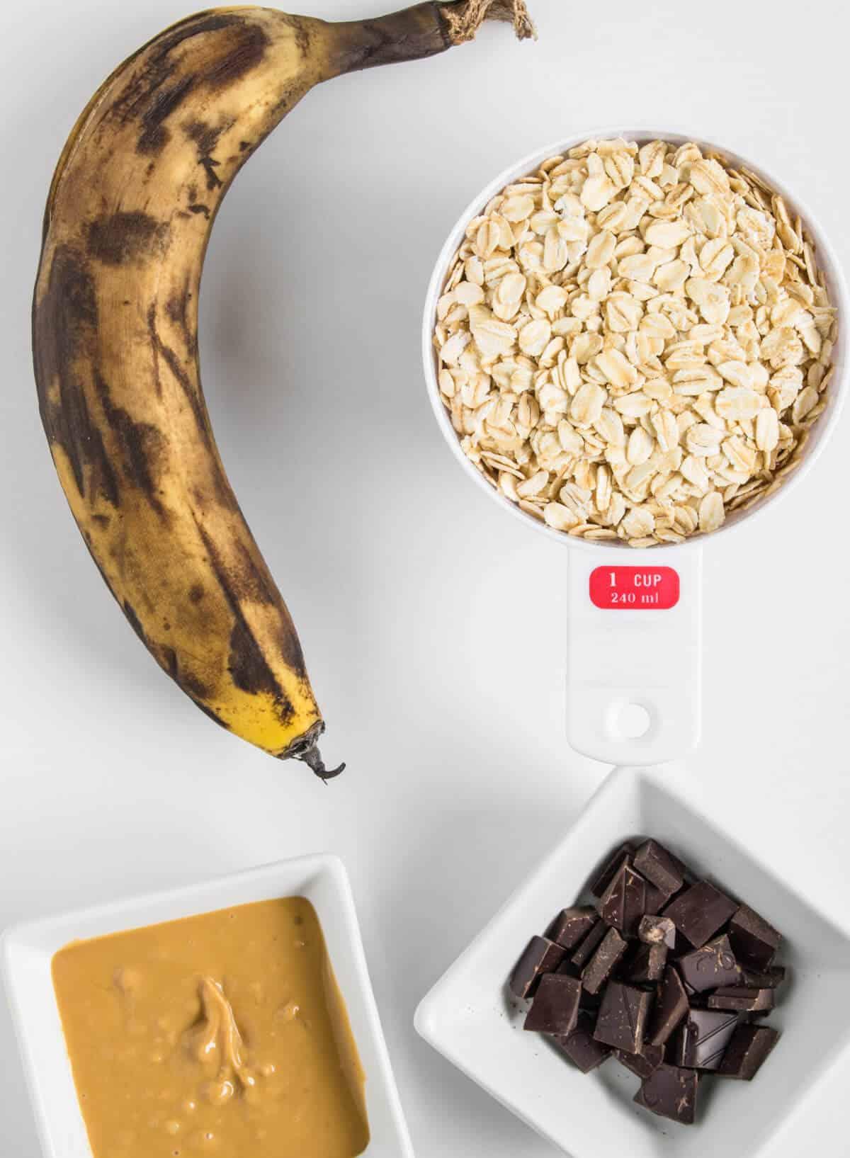 Ingredients to make 4 ingredient cookies