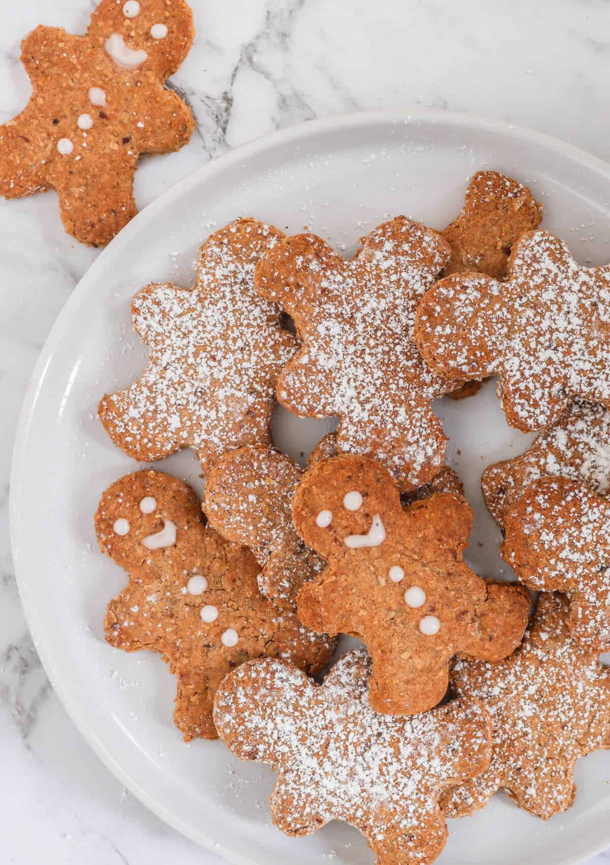 Gingerbread Biscuits served on a plate