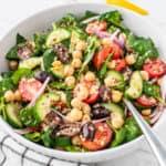 Angle shot of Mediterranean Quinoa Salad in a bowl