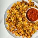 Tiktok Trend Pasta chips served with napoletana sauce